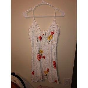 Forever 21 spaghetti strap v neck mini dress